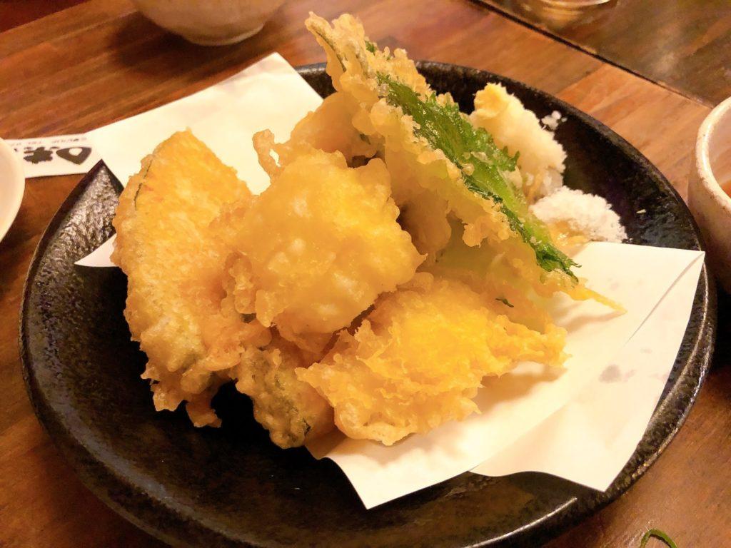 三宮の居酒屋|味兵衛のその日に採れた天然の魚の天ぷら
